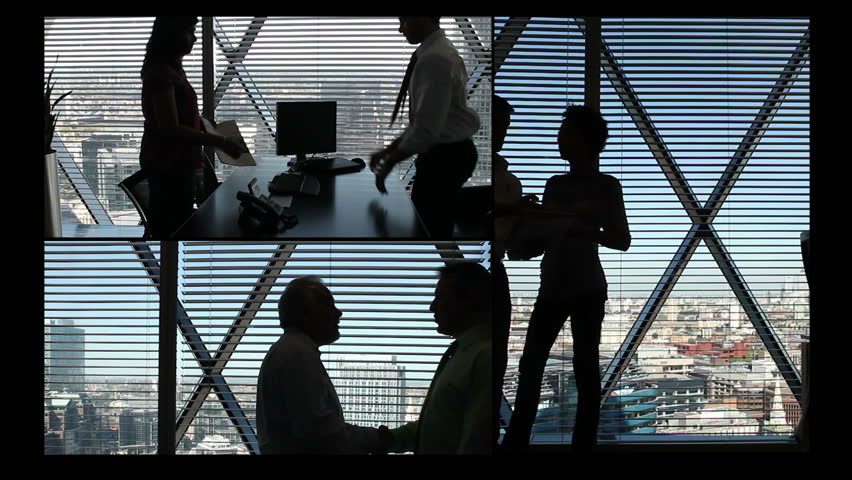 Montage of confident and successful young business team working in a modern high rise office  | Shutterstock HD Video #4533077