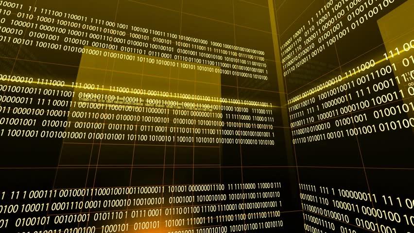 yellow Binary Code Digital Technology