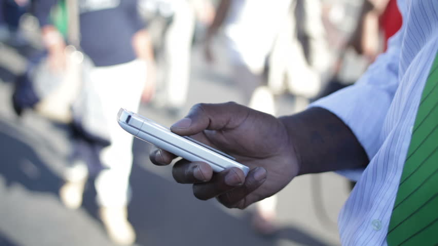 Businessman using his phone on London street  | Shutterstock HD Video #4535039