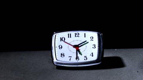Sledge hammer smashing clock, slow motion