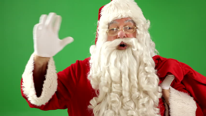 Santa claus waving stock footage video  shutterstock