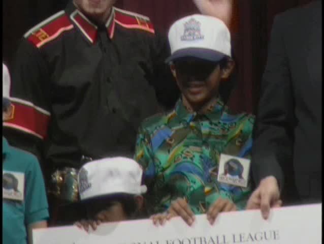 LOS ANGELES - January 1, 1993: Michael Jackson at the Superbowl 27 Press Conference in Los Angeles January 1, 1993