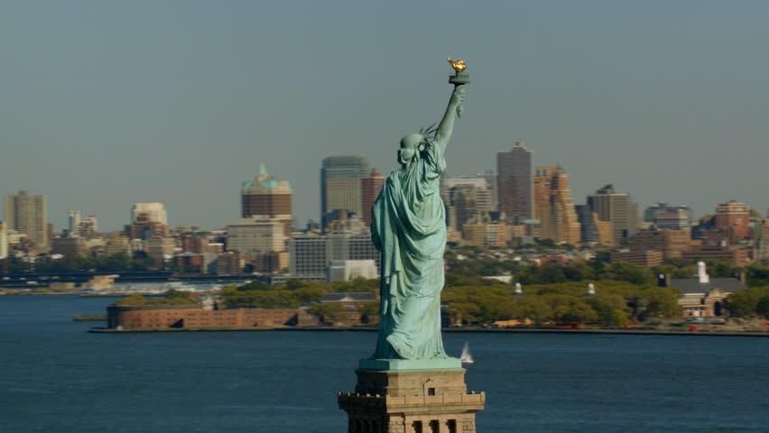 Statue of Liberty and Manhattan, New York City