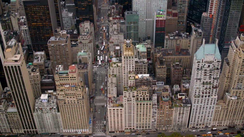 New York City buildings, overhead aerial shot | Shutterstock Video #4580135