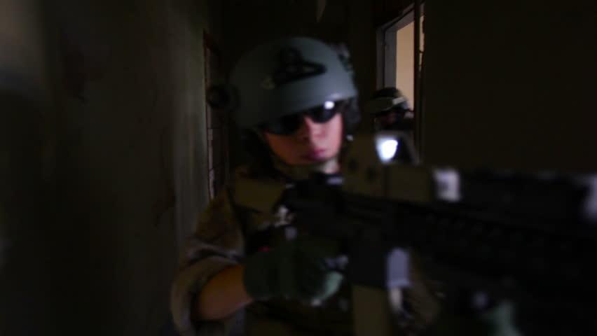 dark basement hd. Stock Video Of Group Soldiers Running Through Dark   4586279 Shutterstock Basement Hd