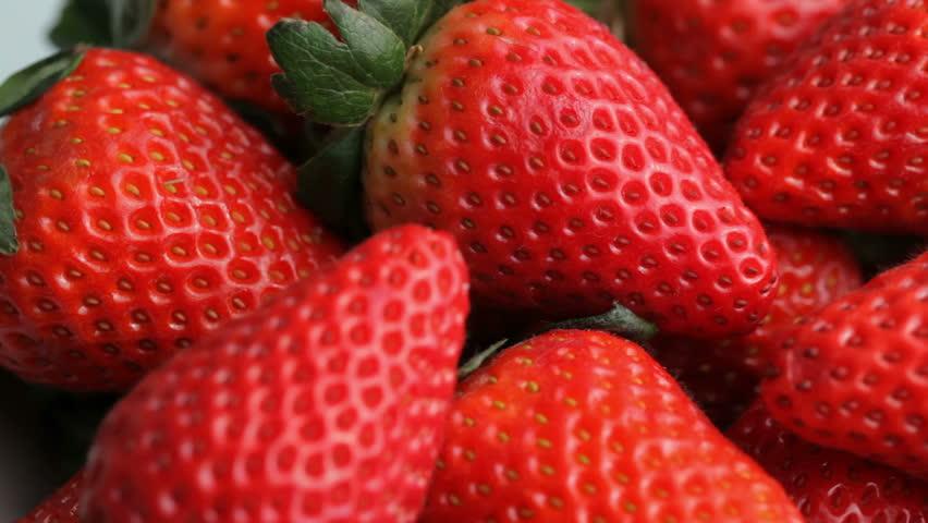 Fresh ripe strawberries, closeup   Shutterstock HD Video #4587569