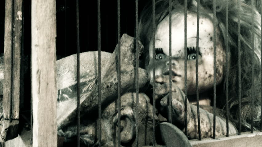 puppet girl in a cage
