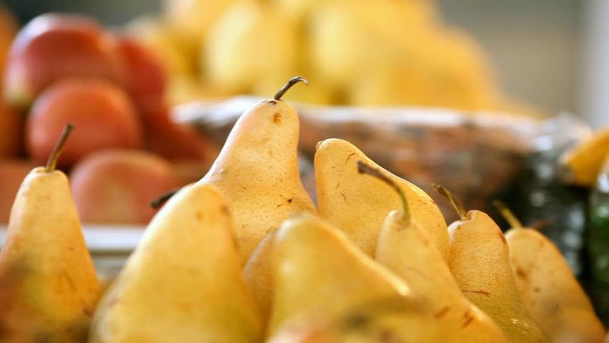 Beautiful dynamic view of healthy fruits food | Shutterstock HD Video #4633169