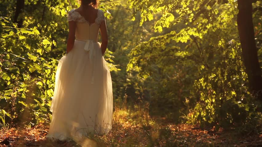 Beautiful Young Princess Walking Forest Fairy Tale Concept HD
