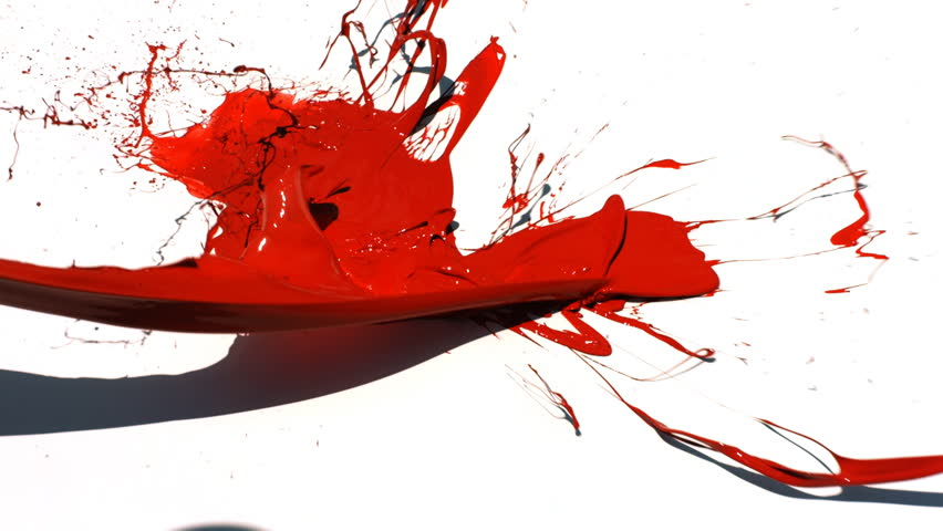 Red Paint splattered paint stock footage video | shutterstock