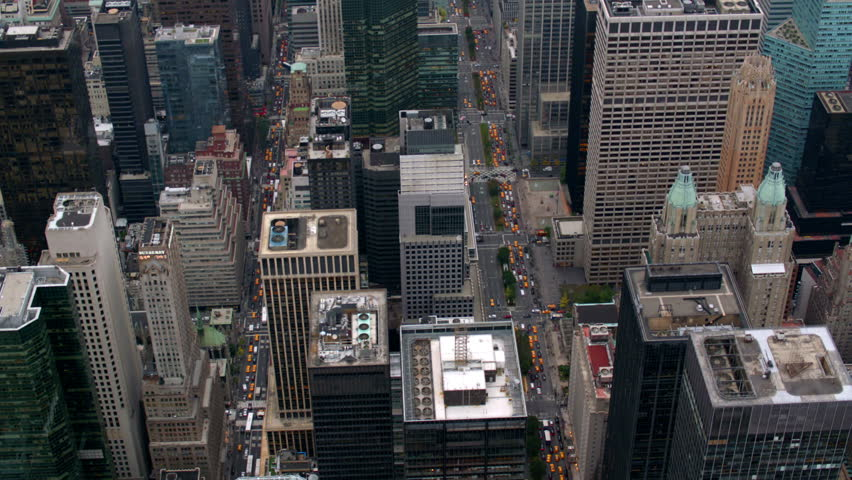 New York City buildings, overhead aerial shot | Shutterstock HD Video #4657454