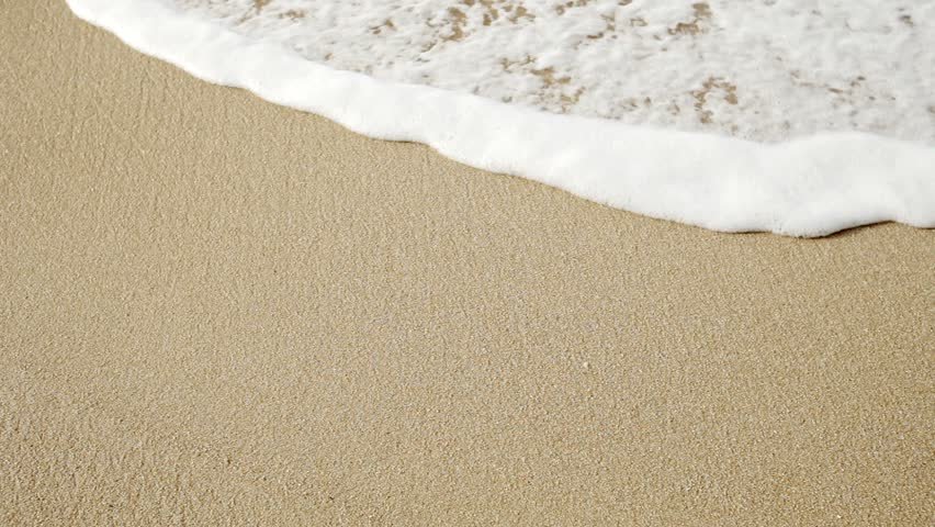 Video 1920x1080 - The waves and the sand on the beach close up #4685504