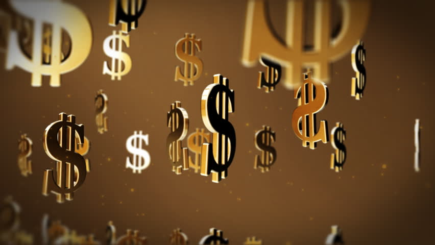 Us Dollar Currency Symbol Flying Stock Footage Video 100 Royalty