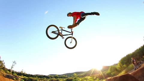 Extreme BMX Tail Whip Slow Motion
