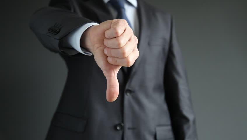 Businessman showing thumbs down - closeup shot   Shutterstock HD Video #4729889