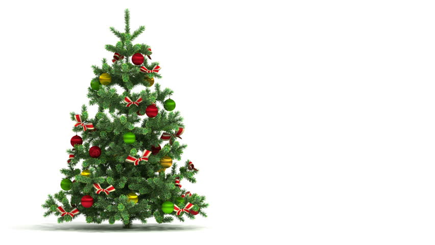 Stock video clip of beautiful christmas tree looped isolated on stock video clip of beautiful christmas tree looped isolated on white shutterstock voltagebd Choice Image