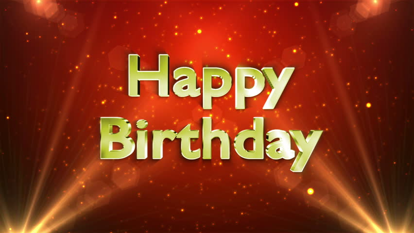 Happy Birthday Greeting Video With All The Stars And Blinds – Happy Birthday Greetings Video