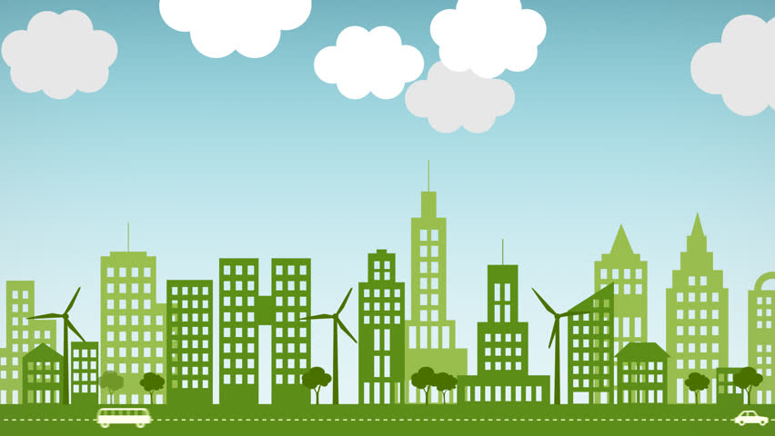 Animated Green Buildings : Green building stock footage video shutterstock