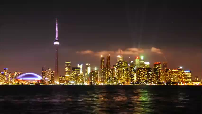 Time-lapse video of Toronto Skyline