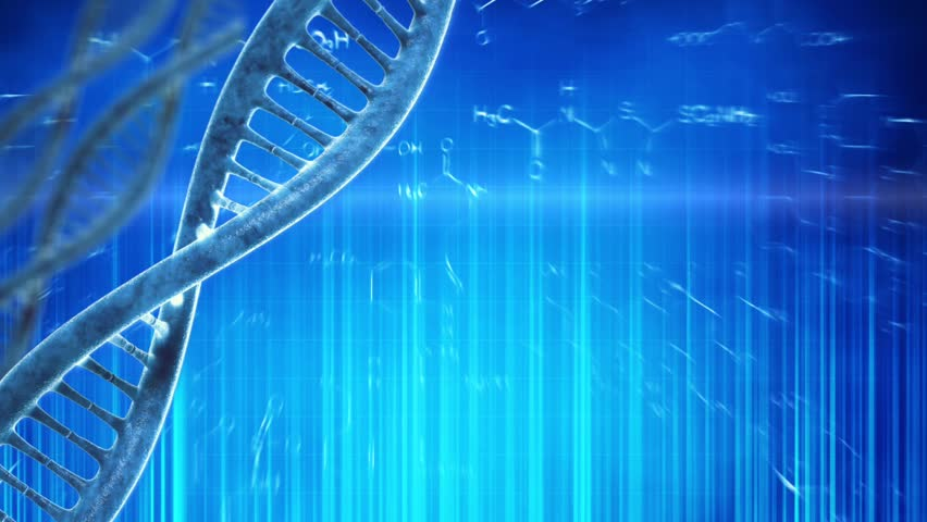 Looping Medical Background With DNA Molecule Stock Footage