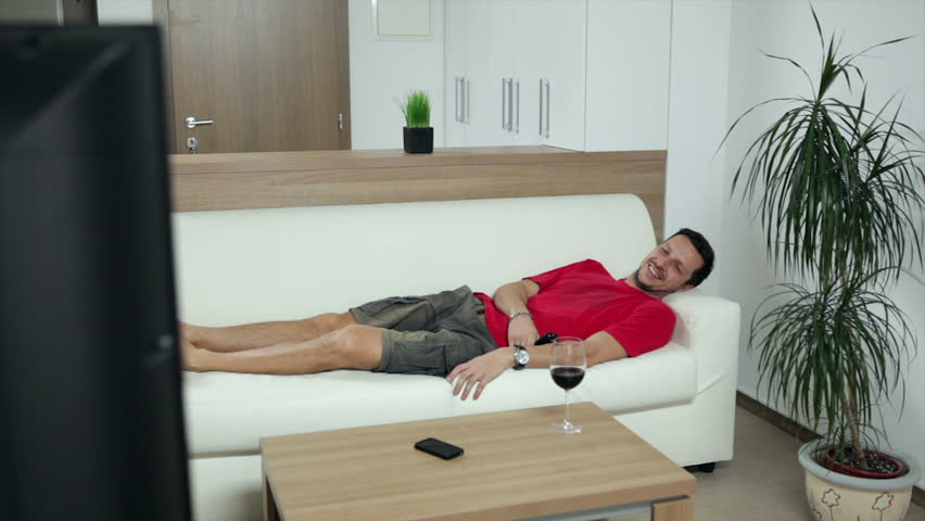Man watching TV bored to death. High definition video. | Shutterstock HD Video #4805369