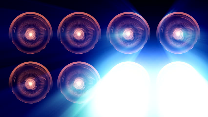Spotlights And Lens Bulb ( Series 12 - Version from 1 to 8 )  | Shutterstock HD Video #4805558