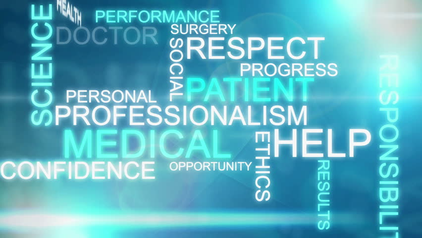 CG graphic blue text background with medical words | Shutterstock HD Video #4806878