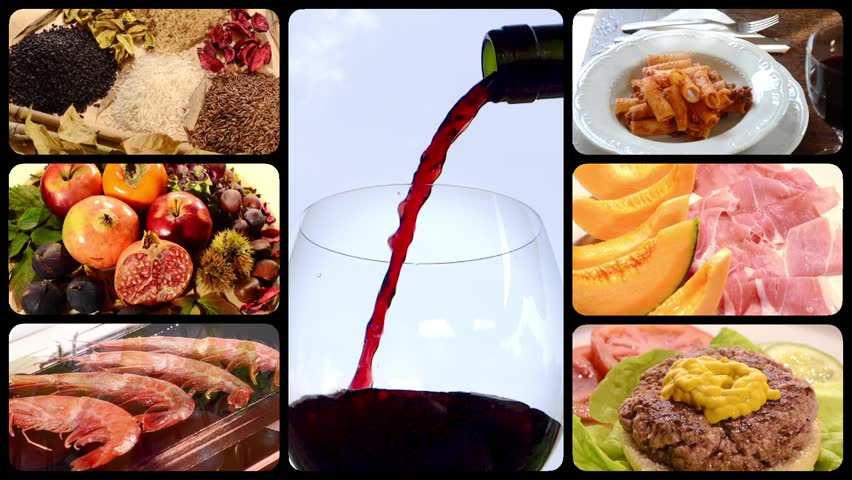 food and drink, montage  #4811519