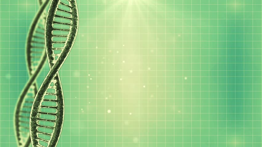 stock video of looping science green background with dna