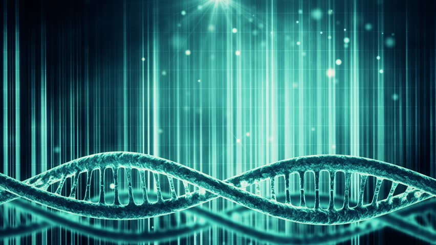 Looping Science Background With DNA Molecule Stock Footage