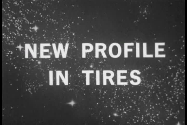 1960s - Newsreel footage of new tire technology in 1965.