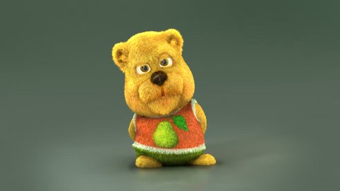 Cute Teddy Bear with present box.