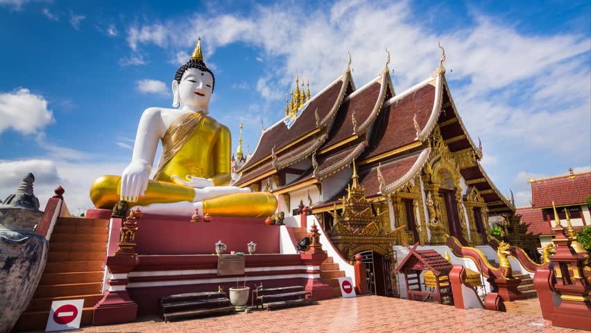 Time Lapse Wat Rajamontean Temple of Chiangmai Thailand
