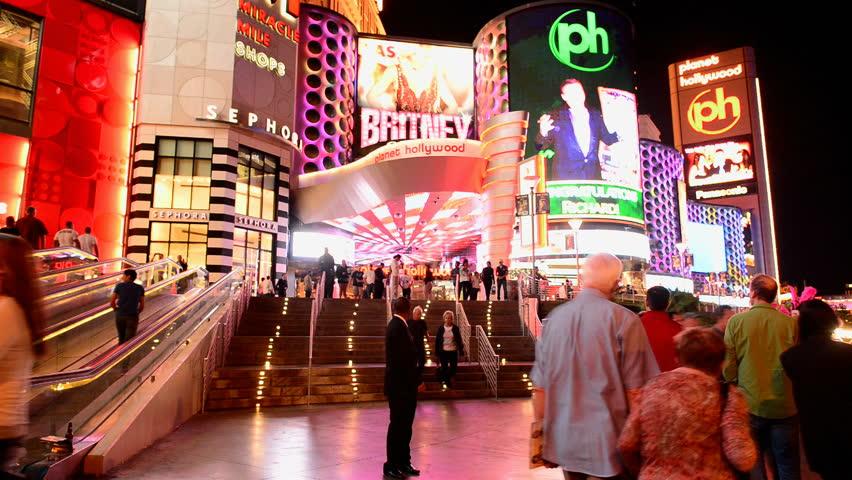 LAS VEGAS - CIRCA SEPT 2013: Time Lapse of the Las Vegas Strip at Night - Circa September 2013