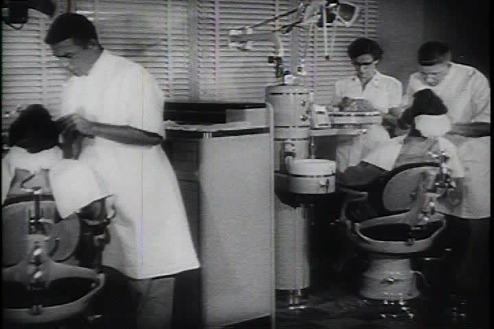 1950s - The U.S. Army dental corps treats patients.