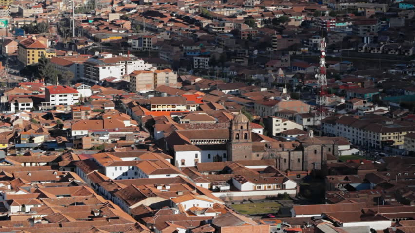Downtown Cusco from above