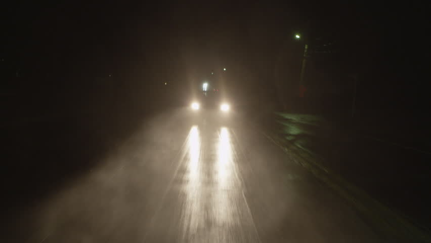 Outdoor driving shot on a rainy night. Full 1080p HD Video! POV. | Shutterstock HD Video #4902509