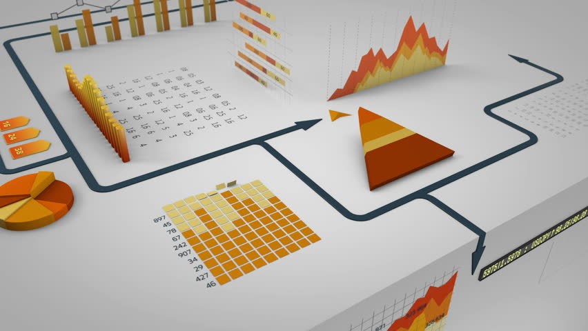 Arrow running on financial charts | Shutterstock HD Video #4930439