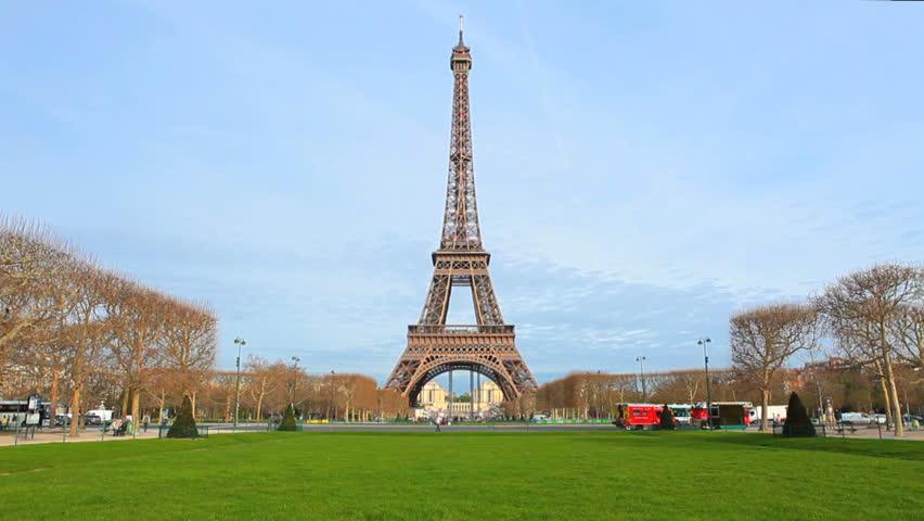 Paris - Eiffel Tower - Day Scene  Paris, France.  | Shutterstock HD Video #4931279