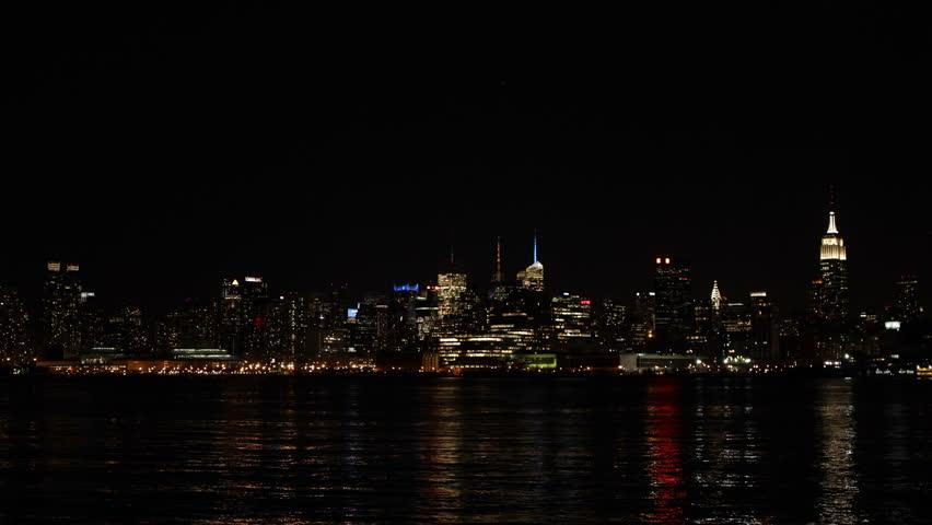 Illuminated Nyc By Night Empire State Building New York