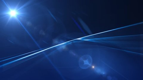 News Style Background - Blue Abstract Motion Background with Lines and Lens Flares