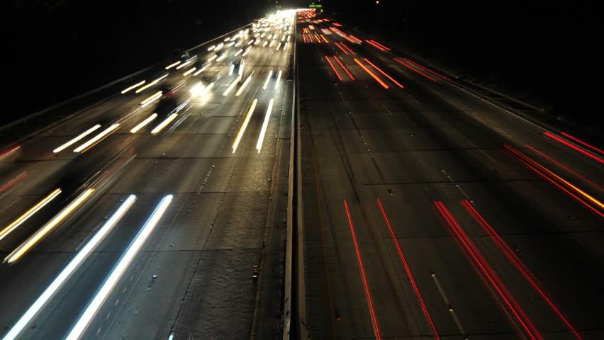 Time Lapse of Busy Freeway In Los Angeles - 4K - 4096x2304 | Shutterstock HD Video #4993799