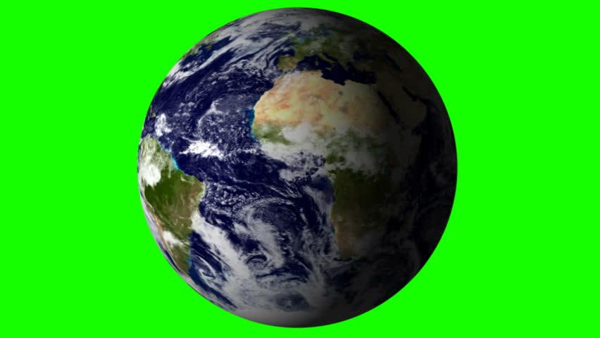 Earth green screened - HD