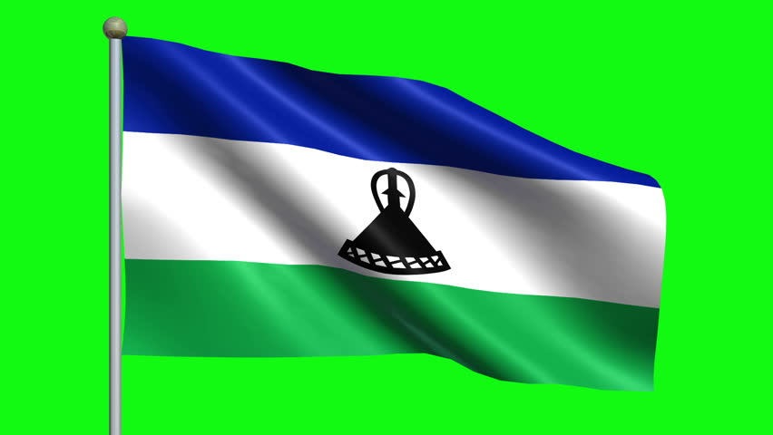 Flag Of Lesotho Animation Loop | Shutterstock HD Video #5009339