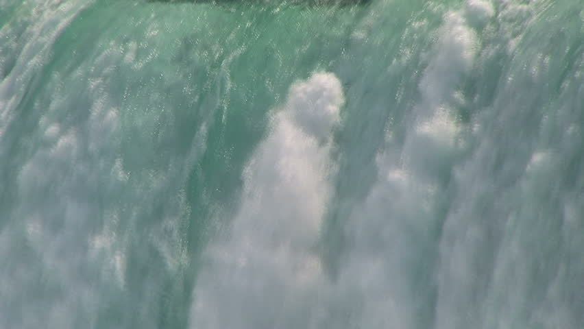 Water. Niagara Falls Close Up of millions of gallons of foaming raging water. | Shutterstock HD Video #501289