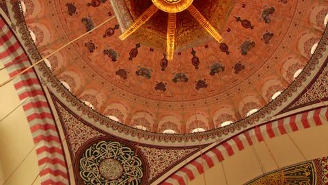 ISTANBUL, TURKEY - OCTOBER 29, 2013: Suleymaniye Mosque was built by Mimar Sinan. He was the best architect in Ottoman. This mosque was restored in 2012.
