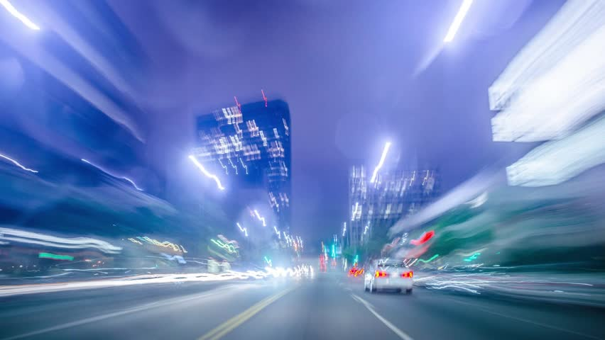 Long exposure time-lapse in traffic at highway | Shutterstock HD Video #5044889