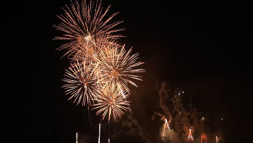 A Fireworks Show In The Night Stock Footage Video 1279861 ...