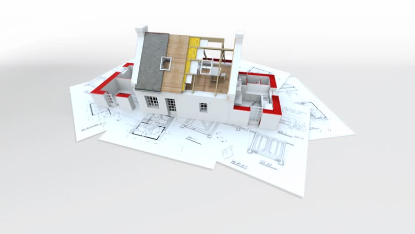 Stock video of 3d animation showing a home construction 5051549 stock video of 3d animation showing a home construction 5051549 shutterstock malvernweather Images
