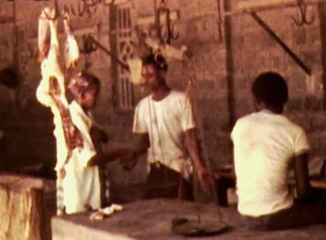 ADEN PROTECTORATE CIRCA 1960 Public Meat Market Vintage Film British Aden Protectorate In